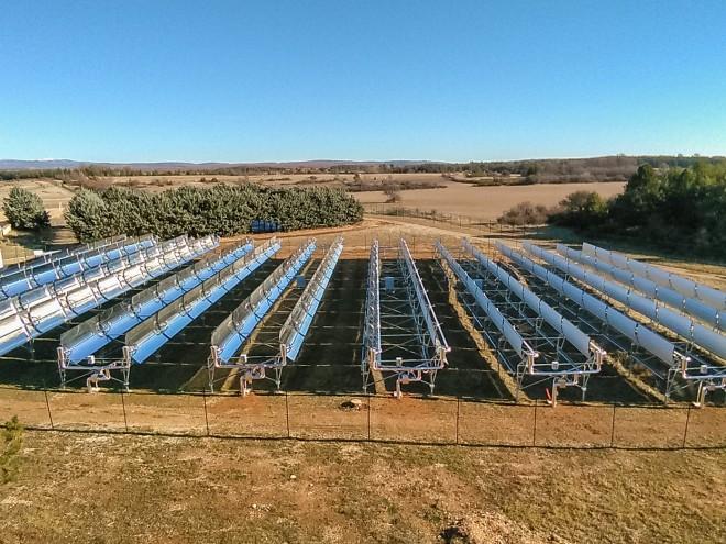 Champ solaire à concentration Helioclim